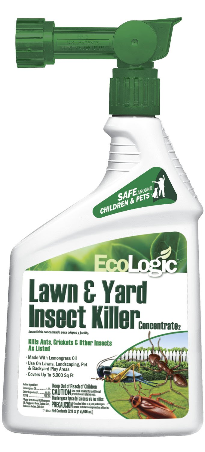 EcoLogic Lawn & Yard Insect Killer Concentrate, Ready-to-Spray, 32 fl oz by Eco-Logic