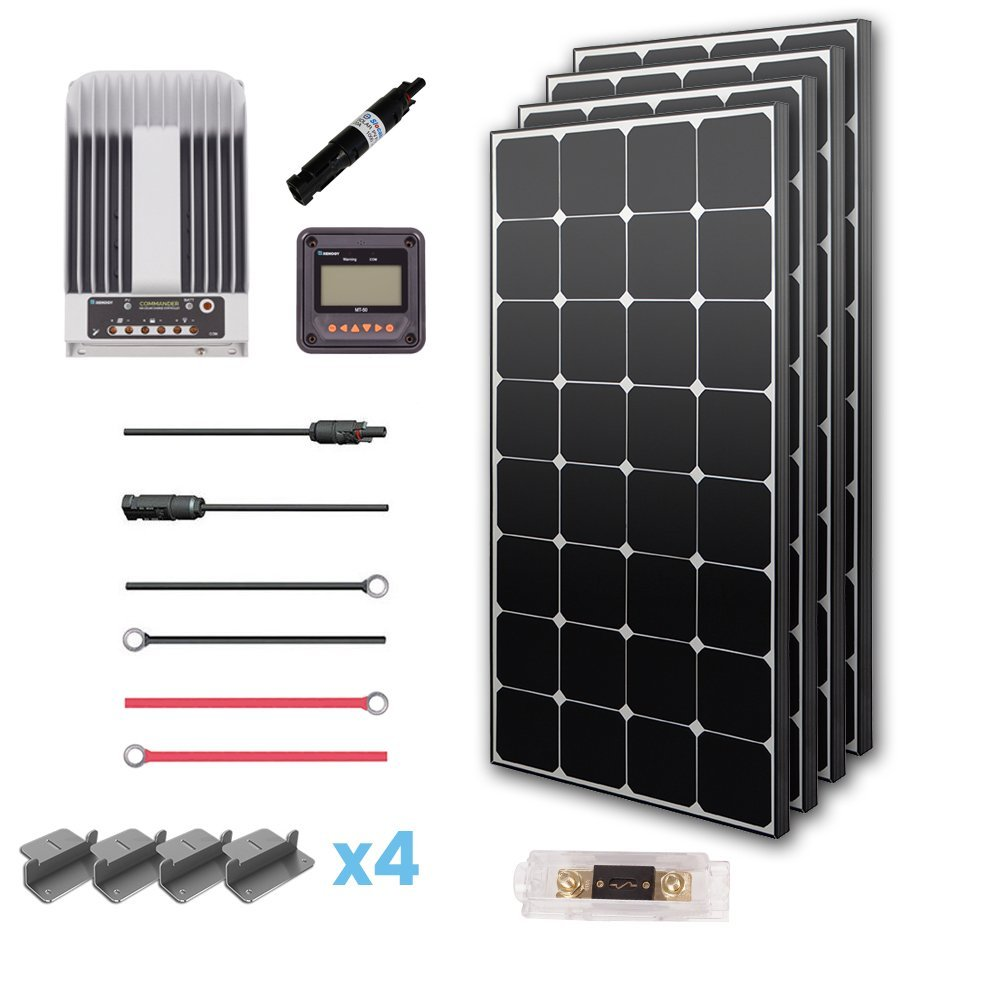 Renogy 400 Watts 12 Volts Eclipse Monocrystalline Solar Rover Fuse Box Premium Kit Panel Garden Outdoor