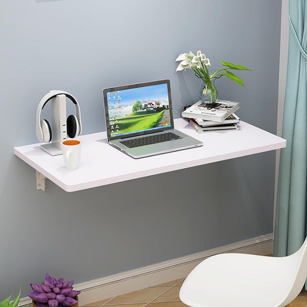 ZJM 折りたたみ式壁掛け式デスク落書き式食卓用テーブル壁用品秘書コンピュータデスクサイドテーブル ( 色 : 白 ) B0793M43F1 白 白