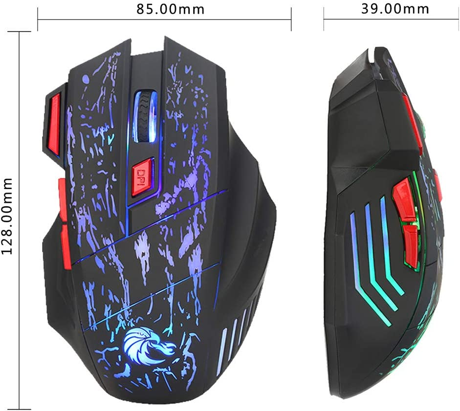 Comfortable Grip Ergonomic Optical PC Computer Gaming Mice 5500 DPI Adjustable 7 Color Breathing Lights XZYP H300 Wired Gaming Mouse 7 Buttons Design