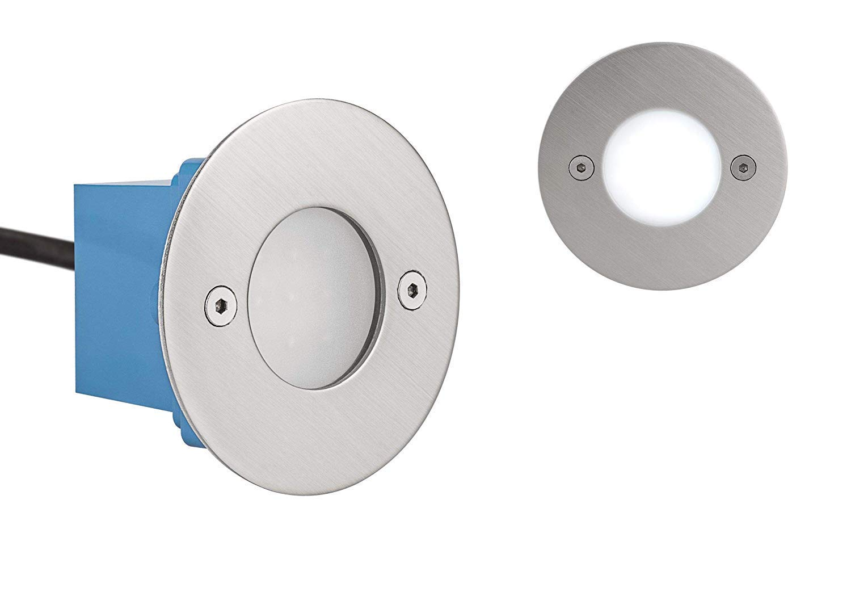 LED Treppenleuchte Wandleuchte Janus RUND - IP54 - Kaltweiss 6.500 Kelvin - 8er Set