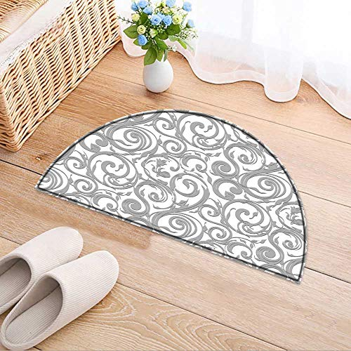 Semicircle Area Rug Carpet Wallpaper Vector Background Living Dining Room Bedroom Hallway Office Carpet W35 x H24 ()