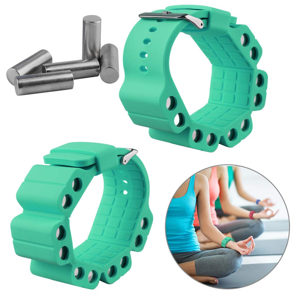 Wrist Weights, Adjustable Fitness Wearable Weighted Wristbands to Increase Arm & Leg Explosiveness and Endurance Training for Dance Barre Pilates Bounce Yoga Cardio Walking and Home Exercise (Green)