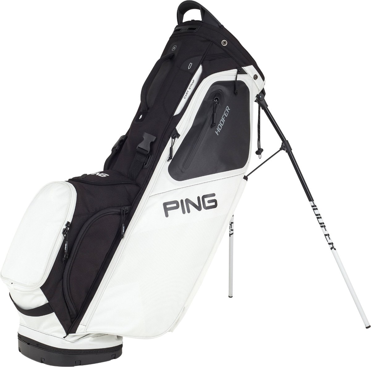 NEW 2018 Ping Hoofer White/Black Golf Carry/Stand Bag