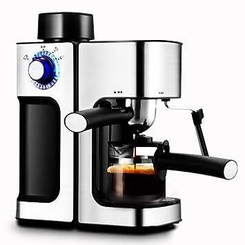 YOYO Cafetera,Café Máquina Espresso Capuchino Latte Dispensador con Leche Soplador Tradicional Italiano Bar Barista Estilo 800 Vatios por Cocineros ...