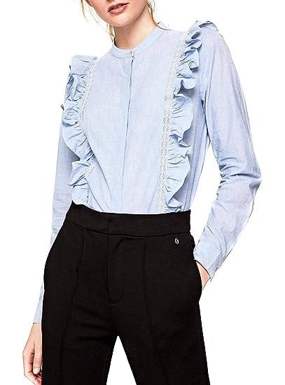 Pepe Jeans Camisa Maya Azul de Mujer XS Azul