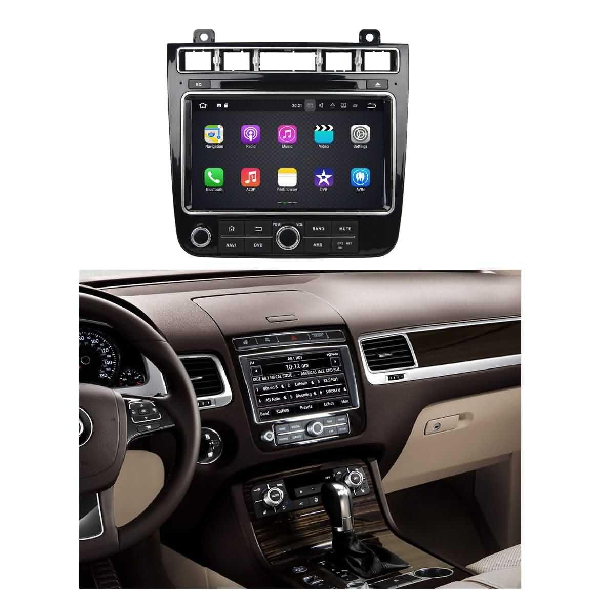 2 Din 8 pouces Android 7.1 stéréo de voiture pour VW Touareg 2015 2016 2017,DAB+ radio 1024x600 écran tactile capacitif avec Quad Core Cortex A9 1.6G CPU 16G flash et 2G de RAM DDR3 GPS Navi Radio Lecteur