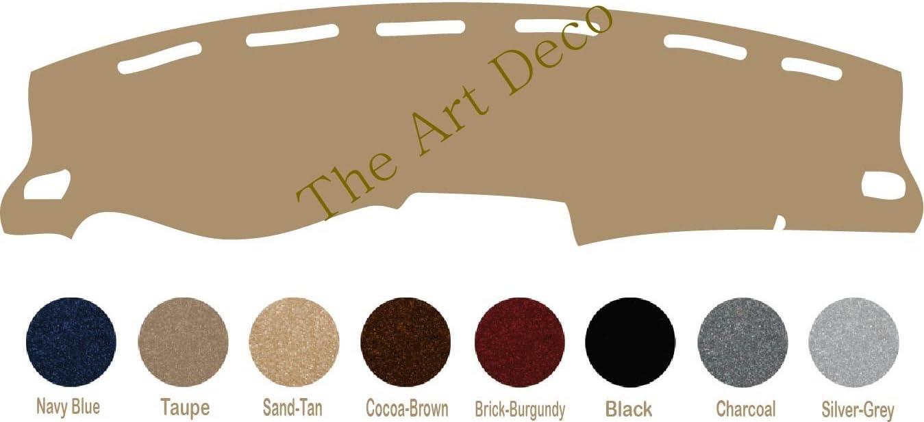 The ArtDeco Premium Carpet Dash Cover for 2012-2019 Toyota Prius C Custom Dash Cover Black