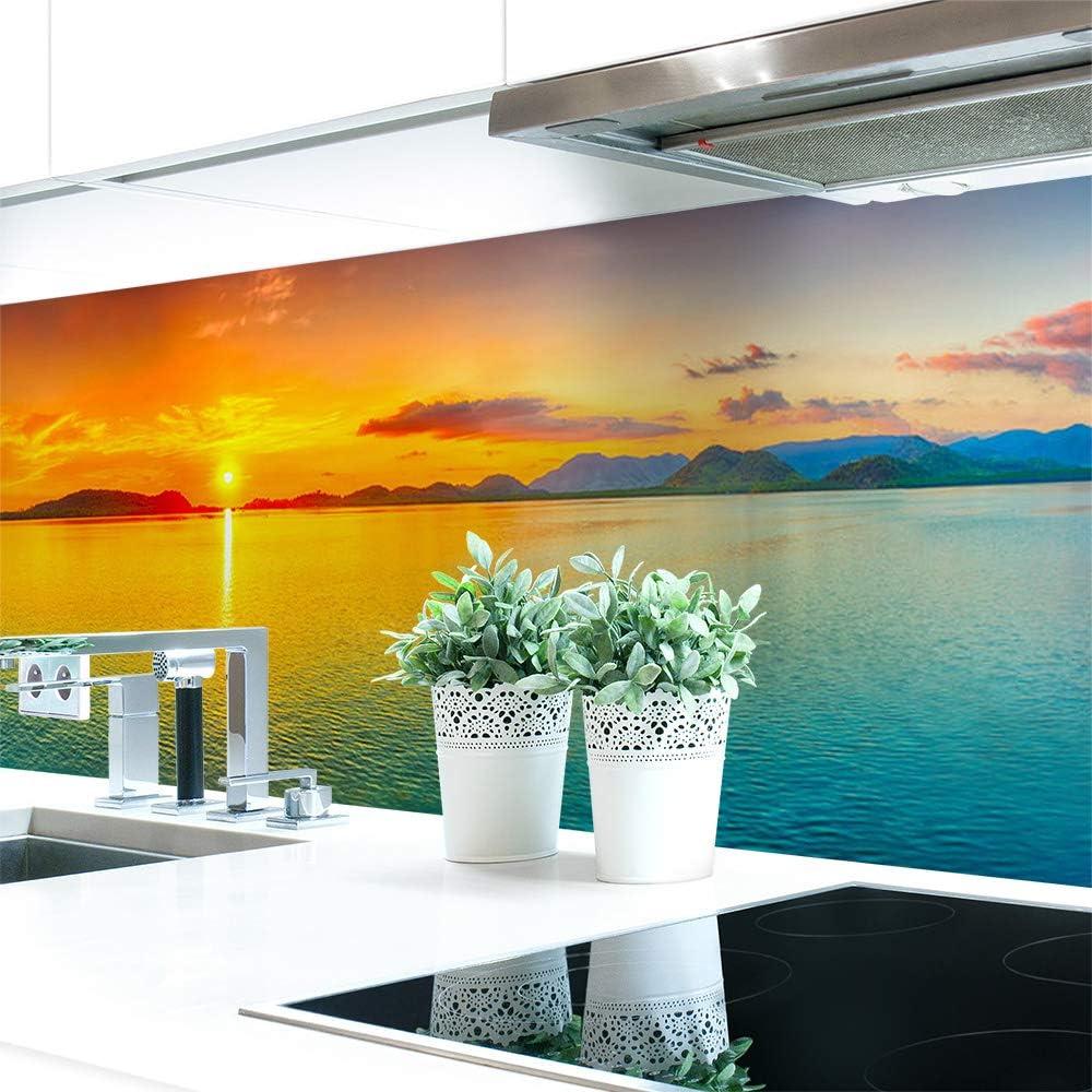 Küchenrückwand Sonnenuntergang Bunt Premium Hart Pvc 0 4 Mm Selbstklebend 160x51cm