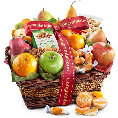 Congratulations Orchard Delight Fruit and Gourmet Gift Basket