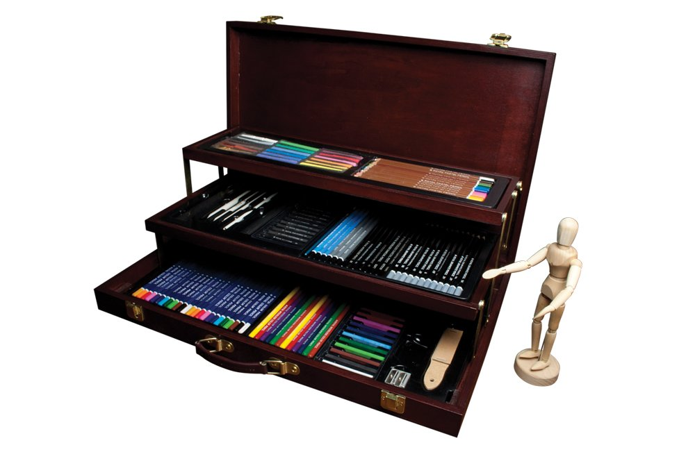 Royal & Langnickel Premier Sketching and Drawing Deluxe Art Set, 134-Piece