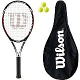 Wilson Enforcer 105 Tennis Racket + Carry Case + 3 Tennis Balls