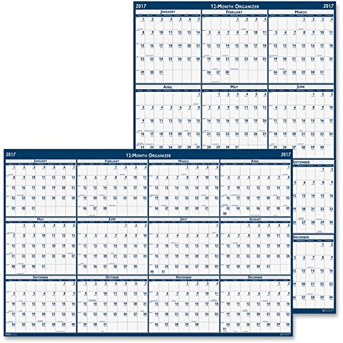 HOD396 - Recycled Poster Style Reversible/Erasable Yearly Wall Calendar by House of Doolittle