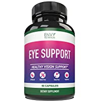 Eye Support Supplement - Healthy Vision Support with Vitamins A + C + E +B12, Zinc...