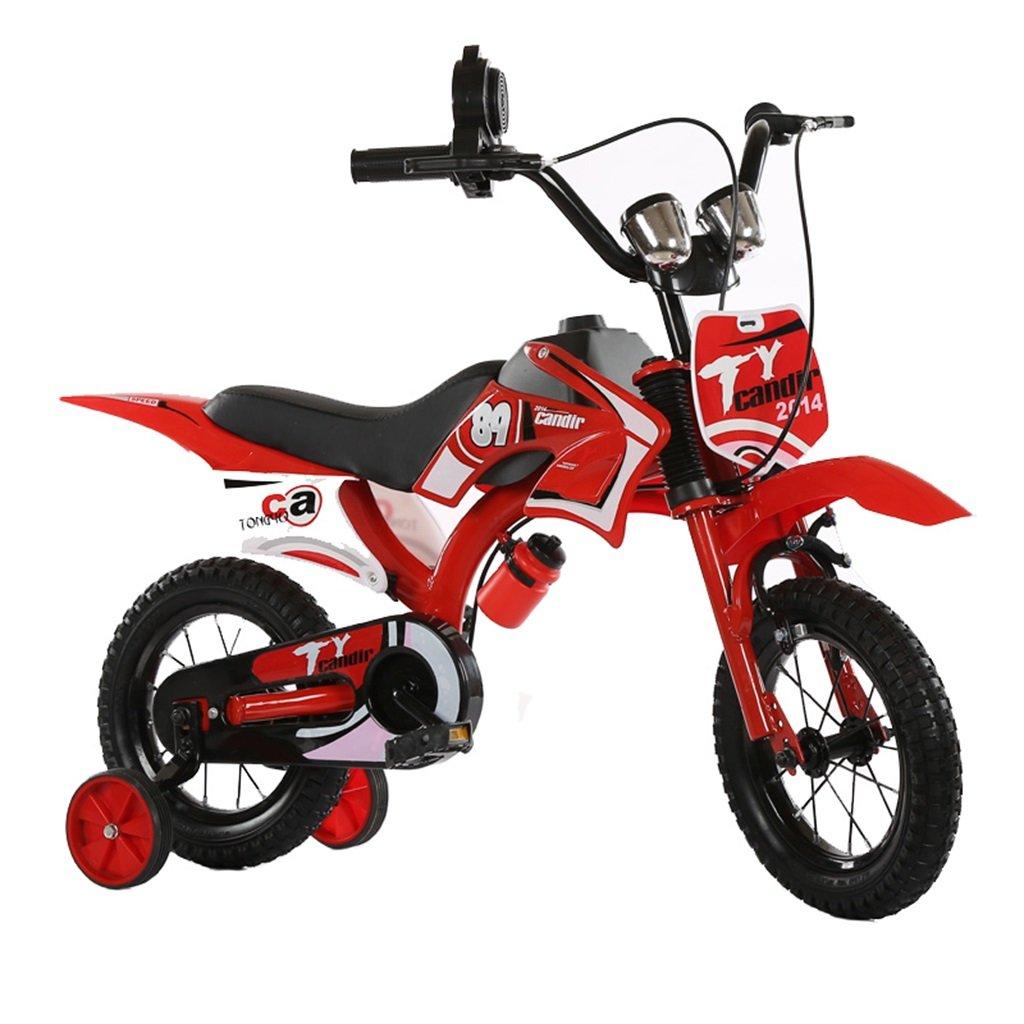 KANGR-子ども用自転車 アウトドアシミュレーション用の子供用自転車オートバイのデザインに適した2-5-8ボーイズとガールズトレーニングホイール付きキッドバイク-12 / 14/16/18インチ ( 色 : 赤 , サイズ さいず : 12 inch ) B07BTMJGJZ 12 inch|赤 赤 12 inch