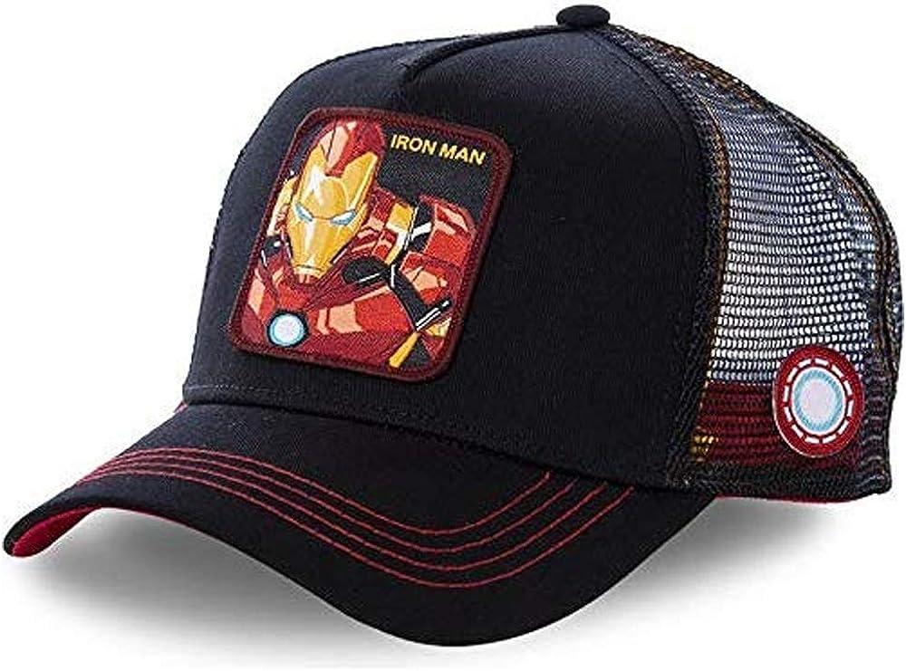 Gorra Visera Curva Trucker Marvel Iron Man Negra con Bordes Rojos ...