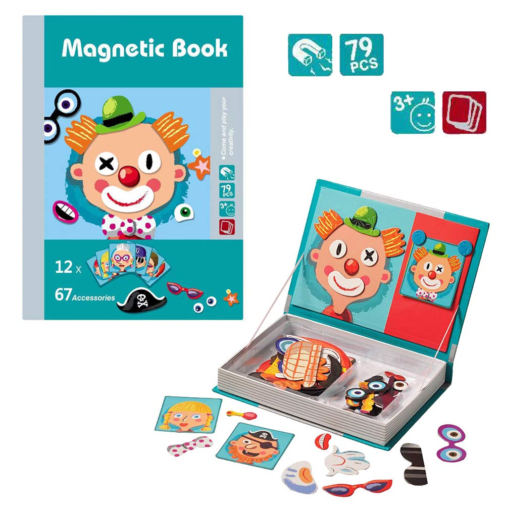 Jigsaw Puzzle for Kids, Toy for 3-12 Year Old Boys Girls Kids Magnet Blocks Puzzle Gift for 3-12 Year Old Boy Girl Birthday Gift Age 4-10