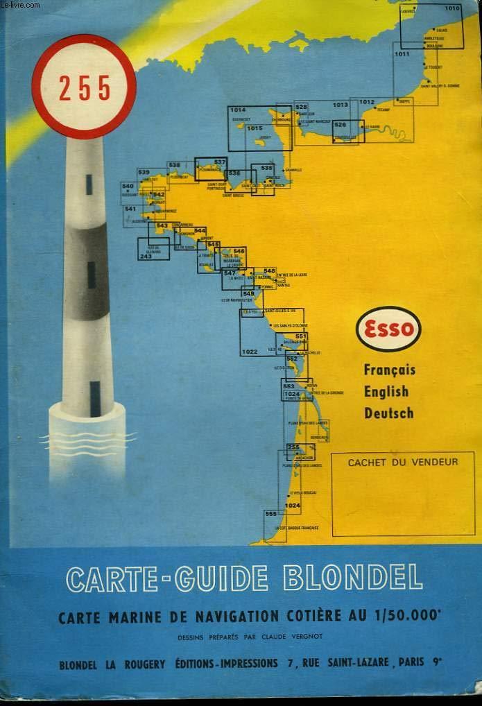 Amazon Fr Carte Guide Blondel N 255 Bassin D Arcachon Entree