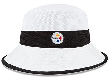 Pittsburgh Steelers New Era NFL 2015 Training Camp Sideline Bucket Hat -  White e773663d4