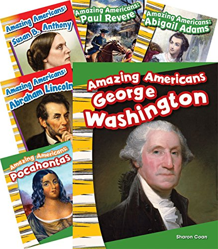 Teacher Created Materials - Primary Source Readers: Amazing Americans! - 6 Book Set - Grades K-2 - Guided Reading Level A - K (Best Sources Of K2)