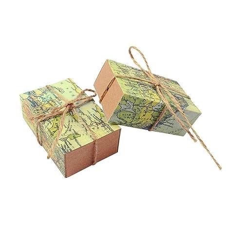 JZK 50 x favores cajas regalo bombones boda baby shower cumpleaños bautizo graduación Navidad comunión partido