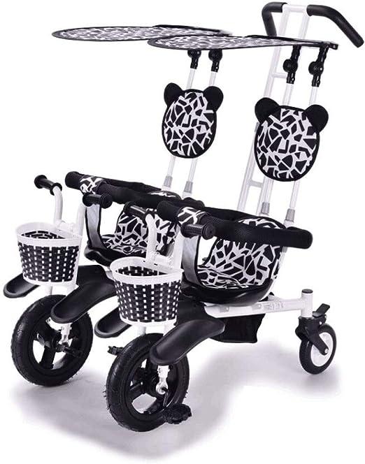 Sillas de Paseo Ligeras Cochecito Doble Triciclo Bicicleta de bebé ...