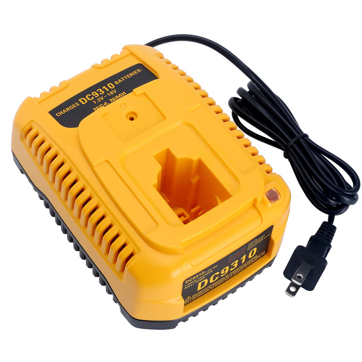 Biswaye Battery Charger DC9310 for DEWALT 7.2V-18V NiCad & NiMh Battery DW9057 DC9071 DC9091 DC9096 DW9072 DW9091 DC9099 DW9099