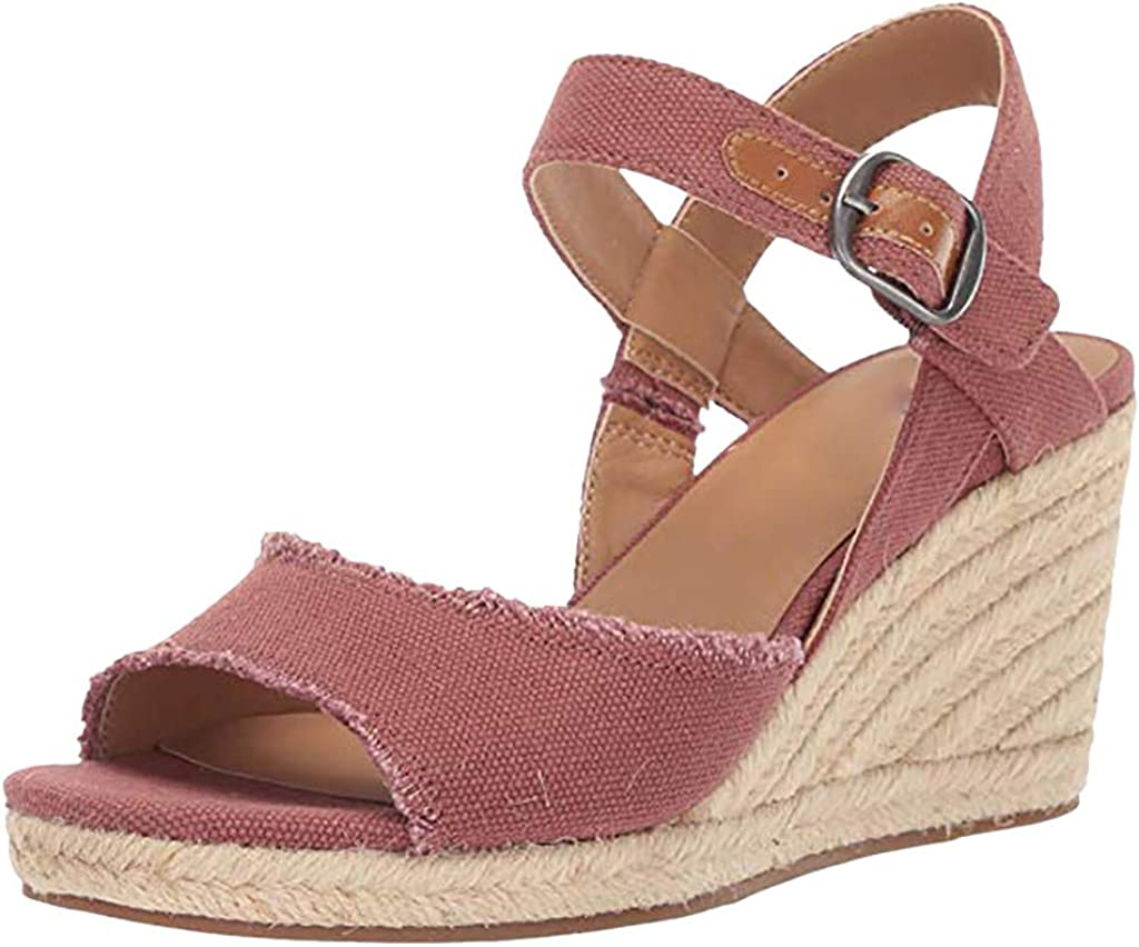 Summer Womens Ladies High Heel Wedge Sandals Ankle Strap Espadrilles Shoes