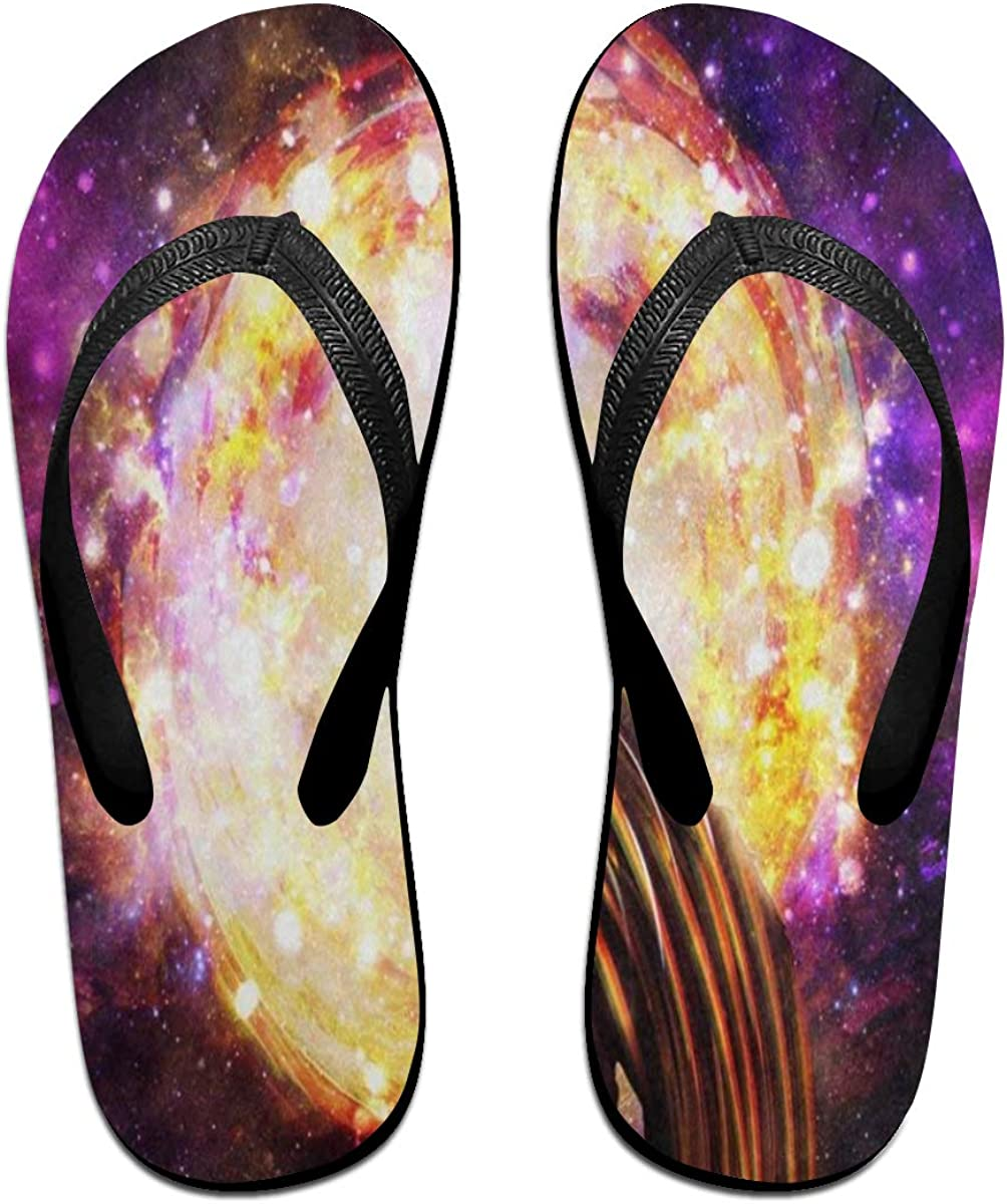 Ladninag Flip Flops Abstract Wolf Galaxy Nebula Womens Indoor Slippers Brazil Sandals for Youth