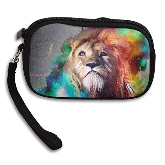 31b88aec2e Womens Small Wallet Big Cat Lion Pattern 02 Zipper Card Purse Phone Case  Holder Wallets With