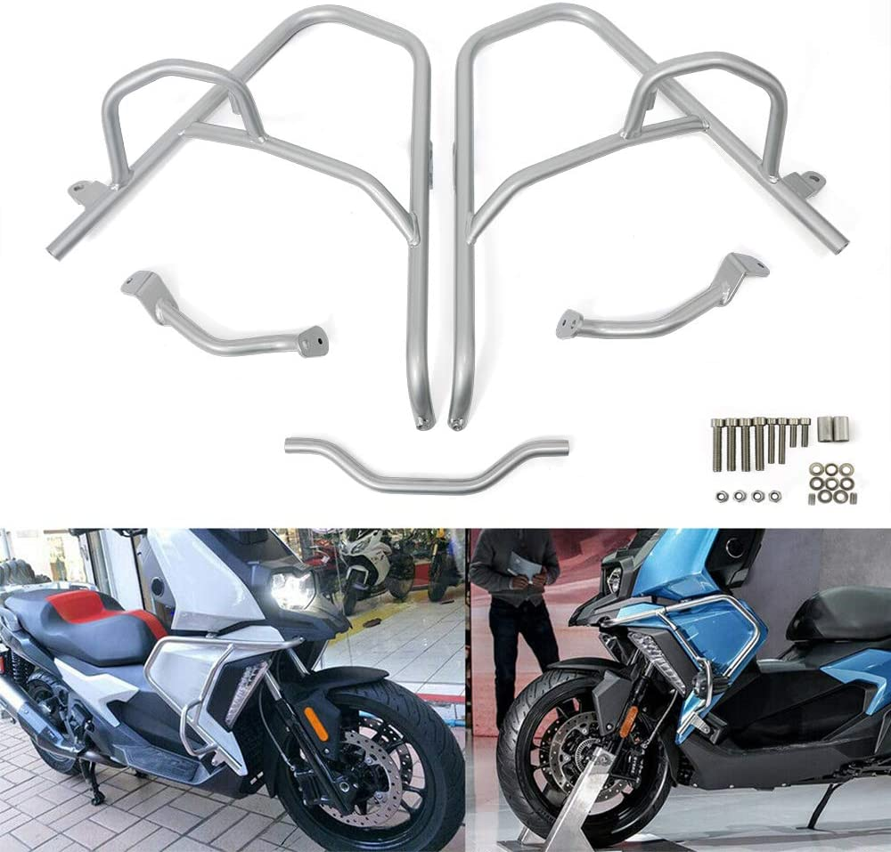 Black BAIONE Motorcycle Engine Guard Highway Crash Bars Bumper Protector Replacement for BMW C400X 2019-2020