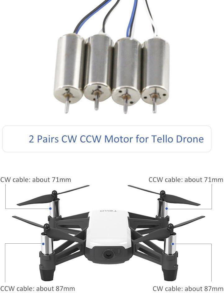 Motor Universal CW//CCW para D-J-I TE-LLO Mini Quadcopter Drone ACHICOO Regalos Divertidos para ni/ños Accesorios de reparaci/ón