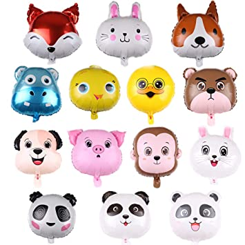 REYOK Globos Animales 14 Piezas Globo de Aluminio Animal ...