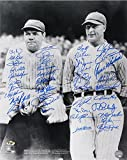 BABE RUTH & LOU GEHRIG 16x20 SIGNED PEPITONE BELLINGER STANTON BARFIELD KEY +32