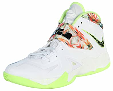 san francisco 25f2b dde7b Nike Mens Lebron Zoom Soldier VII Basketball Shoes-White Black-12