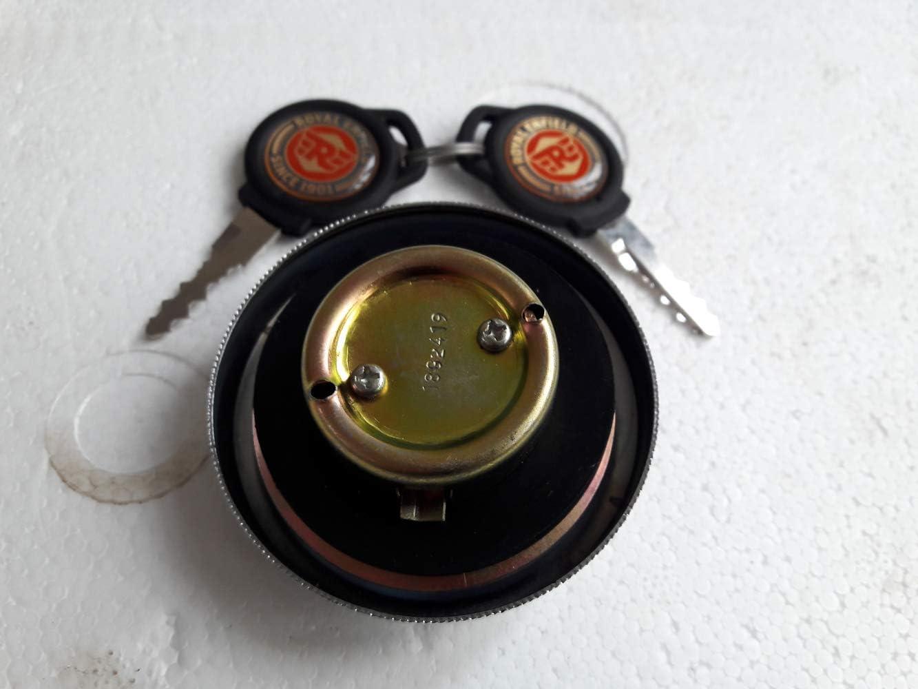 ROYAL ENFIELD PETROL FUEL TANK CAP LOCK WITH KEYS SET # 597128