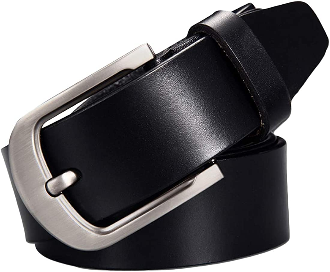 Inlefen Men leather belt waist belt adjustable man pant belt