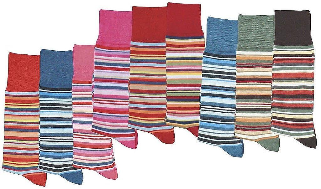 Calze al ginocchio per bambini ideali per ragazze e ragazzi completamente a strisce SocksPur confezione da 3 pezzi