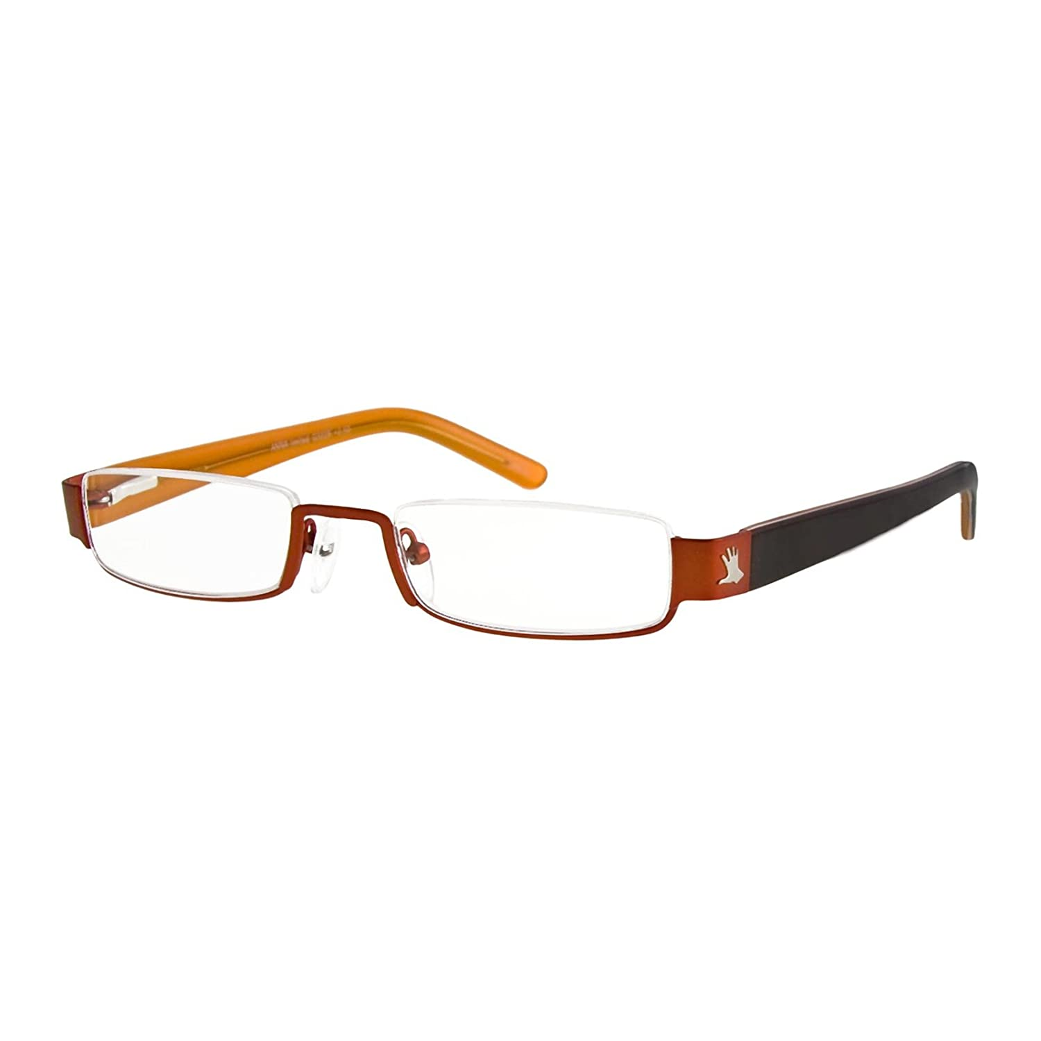 dced46aa5c29 Amazon.com  I NEED YOU Reading Glasses Black Half Rimmed Rectangular Frame  Eyeglasses For Women With Plastic Lenses - Anna Style - Prescription Eyewear  With ...