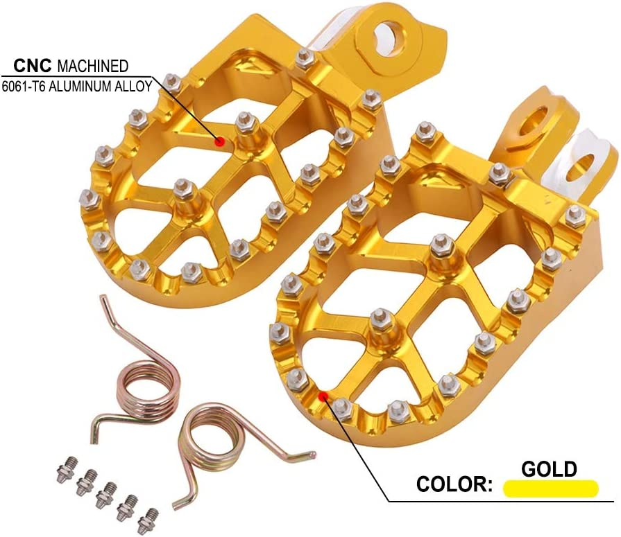 NO LOGO 2ST Motorrad CNC Fu/ßrasten Pedale Rests Fu/ßrasten Fu/ßrasten for Suzuki RMZ250 2010-2018 RMZ450 2008-2018 RMX450Z 2010-2017 Farbe : Gold