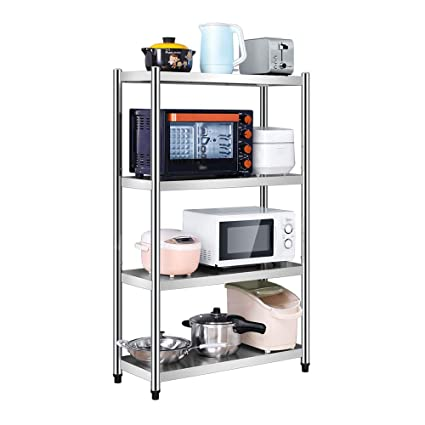 Amazon.com: Stainless steel kitchen rack floor 3 layer multi ...