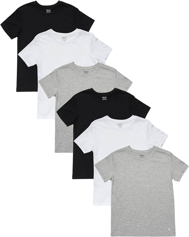 Equipment Toddler//Boys Undershirt Cotton Short Sleeve T-Shirt 6 Pack B.U.M