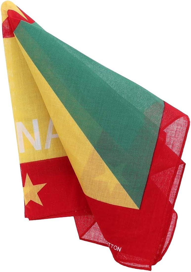 Grenada Flag Bandana Set of 3 Large Cotton Bandanas