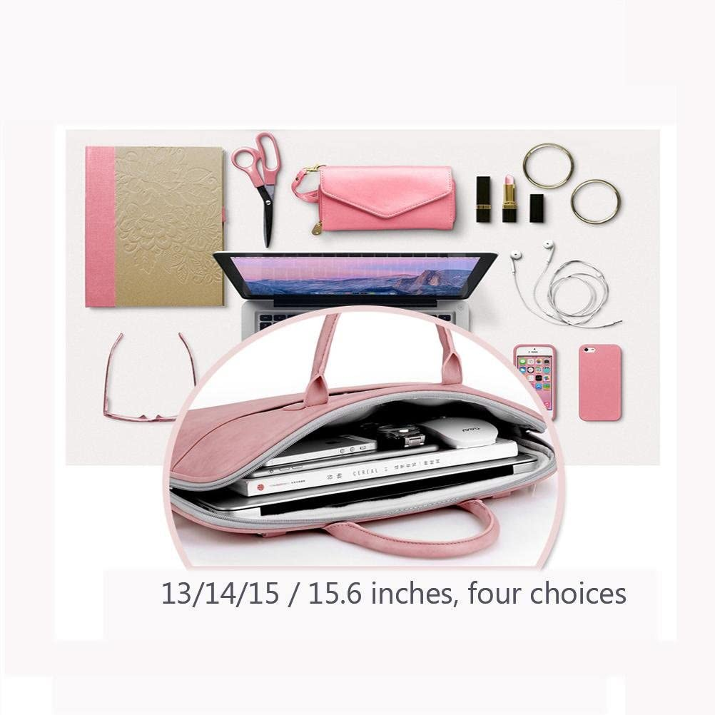 XZRWYB Shoulder Laptop Pack PU Leather Fabric Non-Slip Shockproof Belt Handle with Adjustable Strap Portable Laptop Bag 11-15.6 inches 15 inches