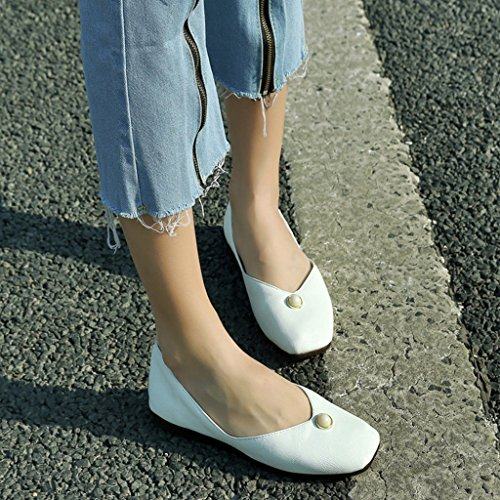 HWF Plates Chaussures Travail Simples Étudiant Mme Bottom Blanc Décontracté 36 Noir Été Chaussures femme Femmes Taille Chaussures Couleur Fille Soft Chaussures de pour Femme 5C6nwFXWq