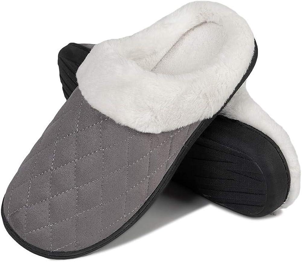 IceUnicorn Pantoufles Femme Maison Homme Chaude Hiver Confortables M/émoire Peluche Chaussures Int/érieur Antid/érapant Chaussons