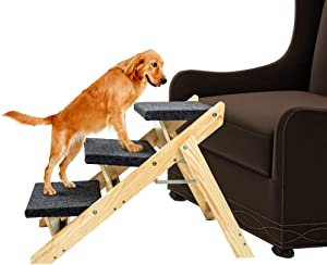 MEWANG Wood Pet Stairs and Ramp