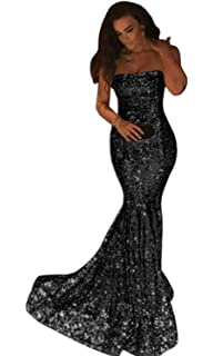 96adfe9494 Dressytailor Sparkly Long Mermaid Strapless Sequin Evening Prom ...