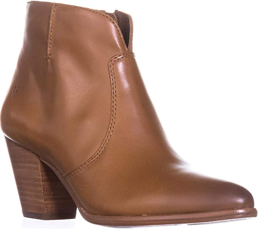 ea0c1e0acc83a Womens Jennifer Bootie Leather Pointed Toe Ankle Fashion Boots. FRYE  Women's Jennifer Bootie Cognac 5.5 ...