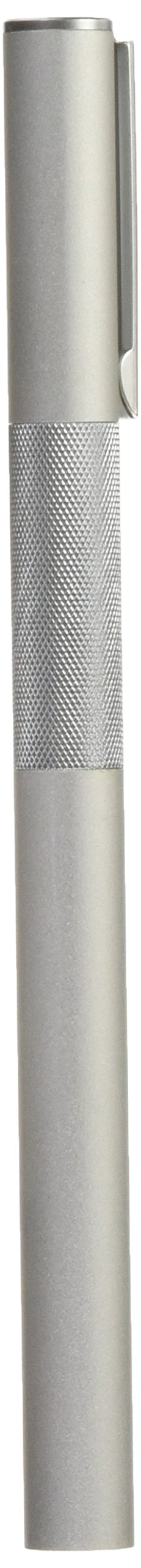 MUJI Aluminum Body Fountain Pen - Fine Nib - with 2 Refill Ink Cartridge